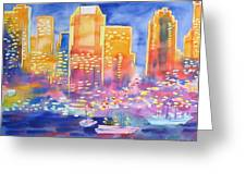 New York Great City Silhouettes.2007 Greeting Card