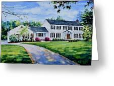 New York Home Portrait Greeting Card