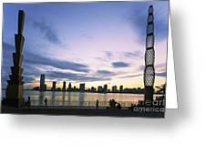 New York Hudson River Greeting Card