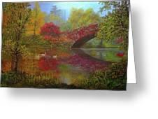 New York In Fall Greeting Card