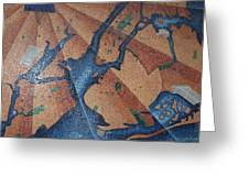 New York In Mosaic Greeting Card