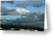 New York In The Distance  Greeting Card