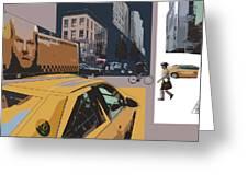 New York Jazz I Greeting Card