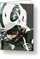 New York Jets Football Team And Original Typography Greeting Card