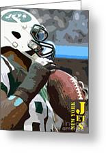 New York Jets Football Team And Original Yellow Typography Greeting Card