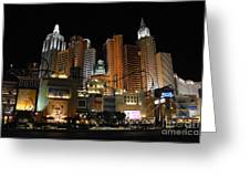 New York Las Vegas Greeting Card