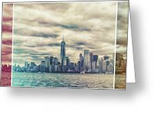 New York Lightleak Greeting Card