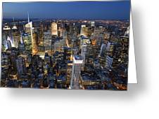 New York Lights Greeting Card