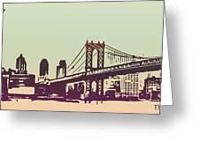 New York Manhattan Bridge Greeting Card
