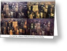New York Mid Manhattan Medley - Photo Art Poster Greeting Card
