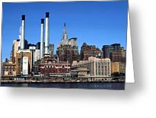 New York Mid Manhattan Skyline Greeting Card
