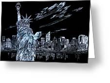 New York New York New York  Greeting Card