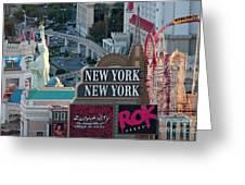 New York New York Strip Greeting Card by Andy Smy