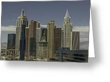 New York New York View 1 Greeting Card