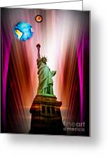 New York Nyc - Statue Of Liberty 2 Greeting Card
