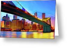 New York Skyline 11 Greeting Card