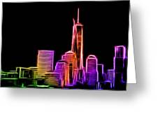 New York Skyline Greeting Card by Aaron Berg