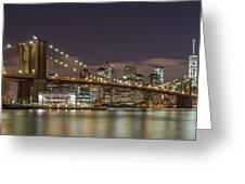 New York Skyline - Brooklyn Bridge - 6 Greeting Card