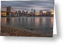 New York Skyline - Brooklyn Bridge - 9 Greeting Card