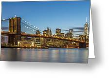 New York Skyline - Brooklyn Bridge Greeting Card