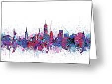 New York Skyline Color Splatter Greeting Card