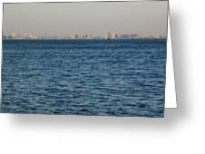 New York Skyline Greeting Card by Robbie Masso