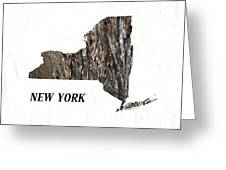 New York State Map Greeting Card