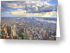 New York State Of Mind   High Definition Greeting Card by Mandy Wiltse