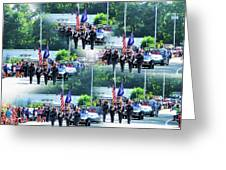 New York State Police Color Guard  1 Greeting Card