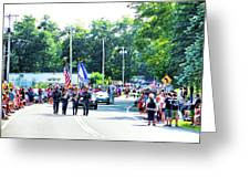 New York State Police Color Guard  2 Greeting Card