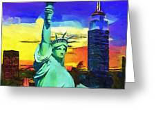New York Statue Of Liberty Greeting Card
