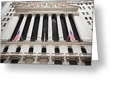New York Stock Exchange Greeting Card by Bryan Mullennix