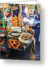 New York Street Vendor Greeting Card