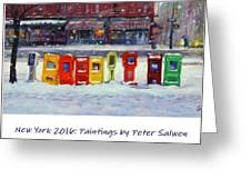 New York Streetscapes 2016 Greeting Card