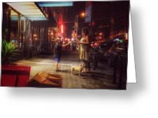 New York Summer Nights Greeting Card