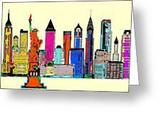 New York - The Big City Greeting Card
