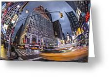 New York Time Square  Greeting Card