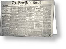 New York Times, 1864 Greeting Card