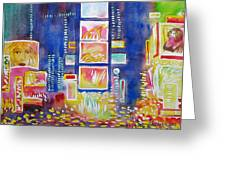 New York Times Square. Lights And Colors. Greeting Card