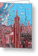 New York Urban Colors 2 Greeting Card