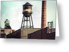 New York Water Towers 19 - Urban Industrial Art Photography Greeting Card by Gary Heller