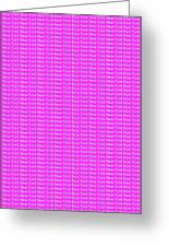 New York - White On Pink Background Greeting Card
