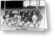 New York Yankees 1913 Greeting Card
