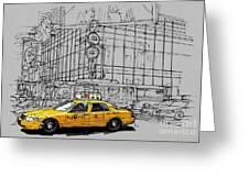 New York Yellow Cab Greeting Card