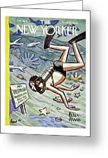 New Yorker January 28 1956 Greeting Card