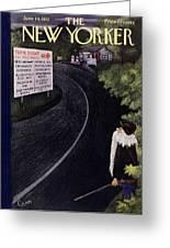 New Yorker June 14 1952 Greeting Card