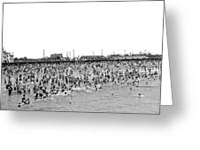 New Yorkers At Coney Island. Greeting Card