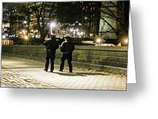 New Yorks Finest Walking The Beat Greeting Card