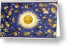 New York's New Solar System Vintage Poster 1898 Greeting Card