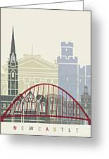 Newcastle Skyline Poster Greeting Card